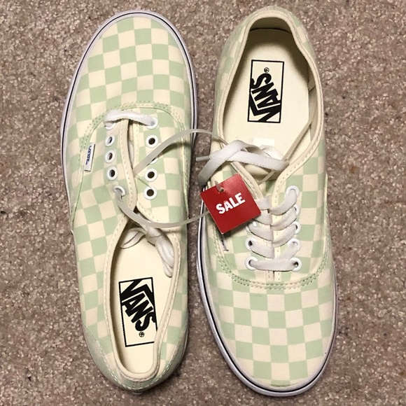 Vans Shoes   Nwt Mint Checkered Vans